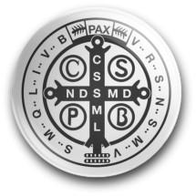 Medalik św. Benedykta, wzór nr 8 (przypinka, średnica - 56 mm)