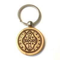 Brelok obrotowy z medalikiem św. Benedykta (IHS, wzór nr 5)