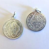 Medalik św. Benedykta (wzór tyniecki, aluminium)