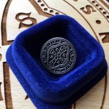 Pins z medalikiem św. Benedykta (wzór tyniecki, etui zwykłe)