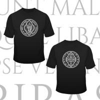 "Koszulka ""Medalik św. Benedykta"" (wzór tyniecki, kolor: czarny)"