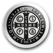 Medalik św. Benedykta, wzór nr 13 (przypinka, średnica - 56 mm)