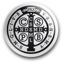 Medalik św. Benedykta, wzór nr 14 (magnes, średnica - 56 mm)