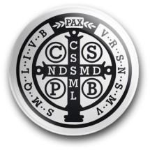 Medalik św. Benedykta, wzór nr 14 (przypinka, średnica - 56 mm)