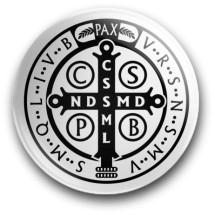 Medalik św. Benedykta, wzór nr 15 (przypinka, średnica - 56 mm)