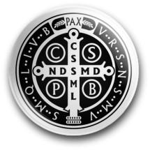Medalik św. Benedykta, wzór nr 16 (przypinka, średnica - 56 mm)