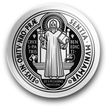 Medalik św. Benedykta, wzór nr 17 (magnes, średnica - 56 mm)