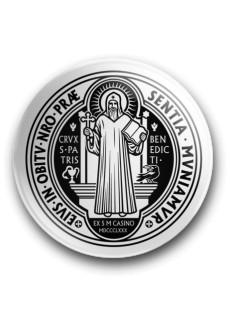 Medalik św. Benedykta, wzór nr 17 (przypinka, średnica - 56 mm)