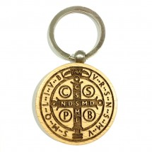 Brelok obrotowy z medalikiem św. Benedykta (wzór nr 6)
