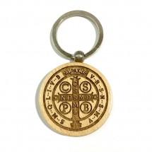 Brelok obrotowy z medalikiem św. Benedykta (wzór nr 7)