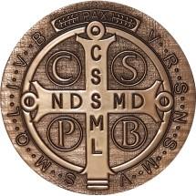Medalik św. Benedykta (wzór nr 1, średnica 20 cm, żywica epoksydowa)