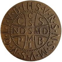 Medalik św. Benedykta (wzór nr 4, średnica 20 cm, żywica epoksydowa)