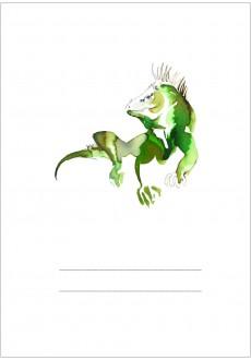 Iguana Izabela / Zeszyt A5 16-kartkowy