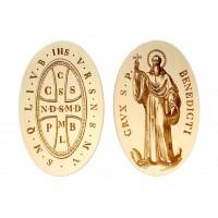 Medalik św. Benedykta, wzór klasyczny z 1741 r. (awers i rewers)