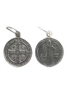 Medalik św. Benedykta srebrny mały