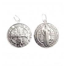 Medalik św. Benedykta srebrny duży