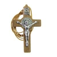 Krzyż Św. Benedykta z rzemykiem