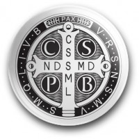 Medalik św. Benedykta (magnes, średnica - 56 mm)