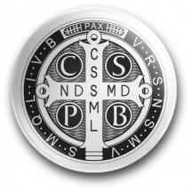 Medalik św. Benedykta (przypinka, średnica - 56 mm)