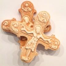 Krzyż Enkolpion (wersja pomarańczowa)