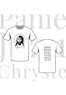 """Koszulka """"Oddychać Imieniem"""" z modlitwą Jezusową"""