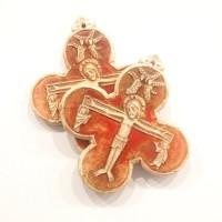 Krzyż (wersja bordowa szkliwiona)