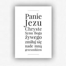 Modlitwa Jezusowa - plakat bez ramki (format A3 - 29,7x42 cm)