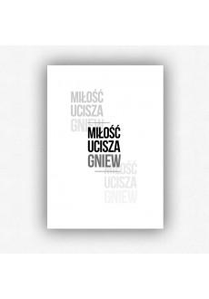 """""""Miłość ucisza gniew"""" - plakat bez ramki (format A3 - 29,7x42 cm)"""