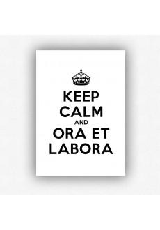 """Keep calm and ora et labora"" - plakat bez ramki (format A3 - 29,7x42 cm)"