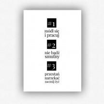 """""""3 zasady według ojca Leona"""" - plakat bez ramki (format A3 - 29,7x42 cm)"""