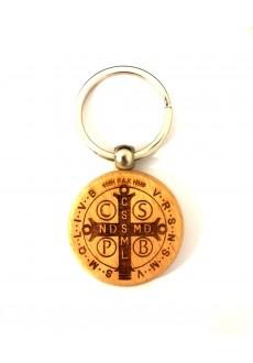 Brelok obrotowy z medalikiem św. Benedykta