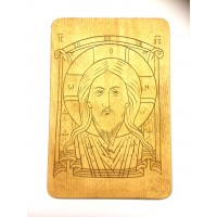 Oblicze Chrystusa - grawerowana deska prostokątna