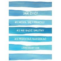 """""""Jak żyć?"""" - plakat bez ramki (format A1 - 59,4x84,1 cm)"""