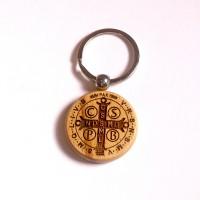 Brelok obrotowy z medalikiem św. Benedykta (wzór nr 1)