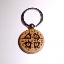 Brelok obrotowy z medalikiem św. Benedykta (wzór nr 2)