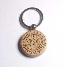 Brelok obrotowy z medalikiem św. Benedykta (karawaka, wzór nr 3)