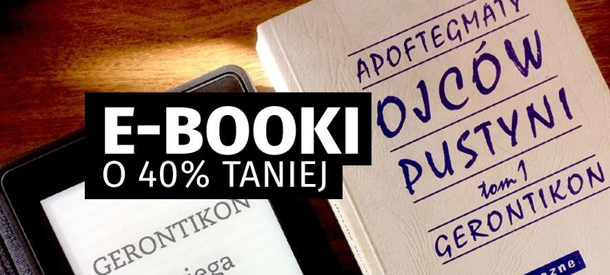 E-booki o 40% taniej